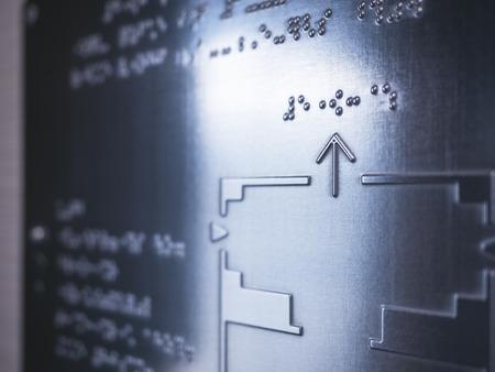Braille Kaartinformatie Lezen Blinde communicatie op openbare bewegwijzering