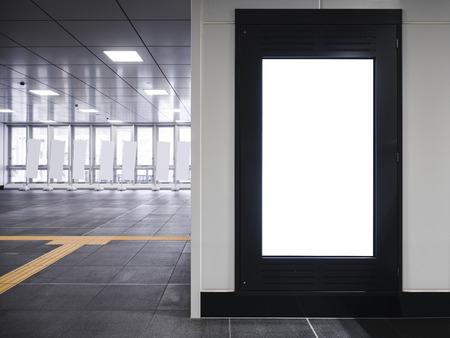 Maquette cadre blanc bannière intérieur de style de la tour vide Banque d'images - 94195682