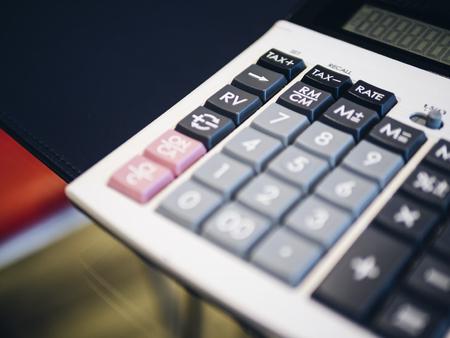 電卓ボタン 財務操作減算 ビジネスコンセプト