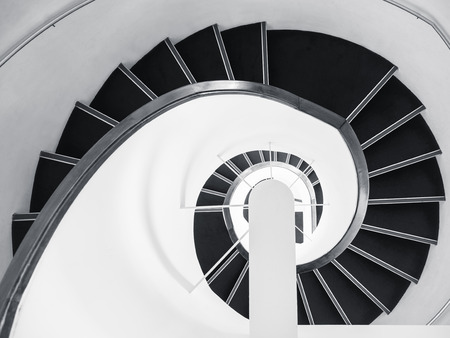 Spiral Staircase Architecture details Art abstract background