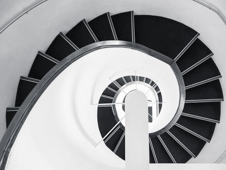 スパイラル階段アーキテクチャ詳細アート抽象的な背景