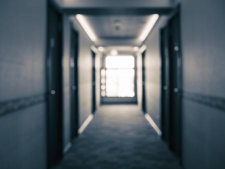 Hôtel couloir intérieur perspective de la construction flou fond Banque d'images - 96145823