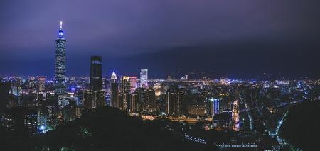 Taipei 101 cityscape night scene Taipei landmark Taiwan tourism