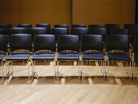 Seat row in seminar room audience education concept
