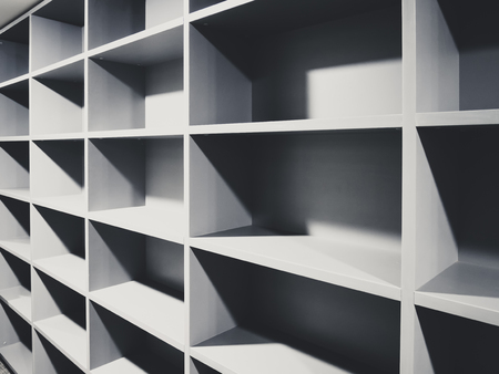 Shelf cabinet office storage document rack room perspective Reklamní fotografie