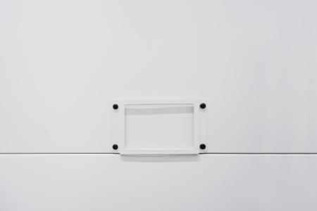 Box storage Blank label white background