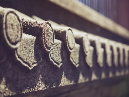 Roof detail stone engrave texture Japan culture Architecture details