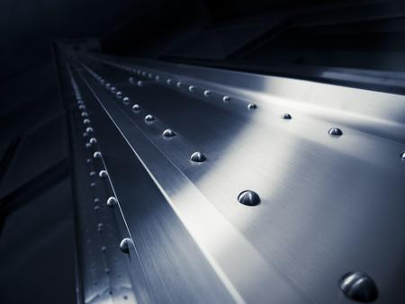 Zilver metalen textuur klinknagels patroon industriële achtergrond Stockfoto