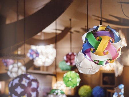 Colourful Lamp Lighting decoration Party festival indoor