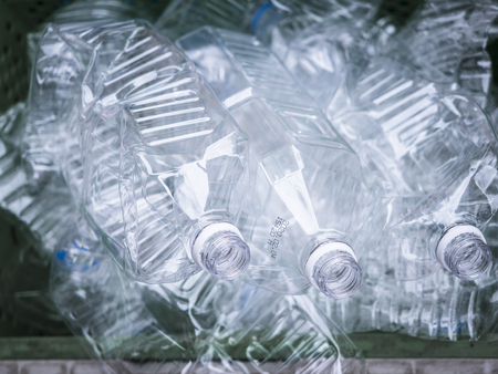 Plastic bottles Rubbish trash empty Pet bottle Recycle Ecology concept Foto de archivo