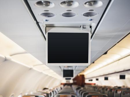 Airplane Tv Screen Flight information aboard Blank template mock up screen