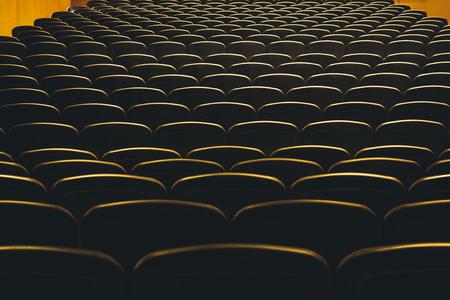 Theatre Seats Audience seat row  indoor event hall Stock Photo