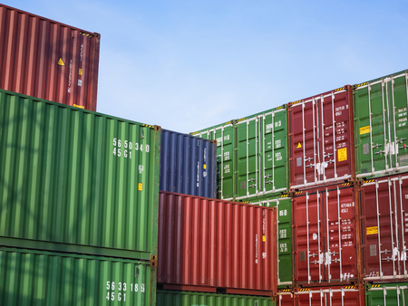 Containers Cargo shipping Logistic freight warehouse Transport Business