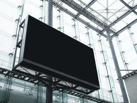Mock up Billboard Banner Media Advertising display Modern Building Foto de archivo