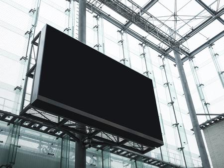 Mock up Billboard Banner Media pubblicità display Edificio moderno