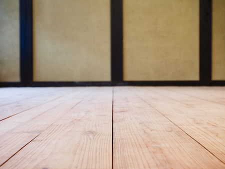 Wooden floor interior Room wall background Japan house details