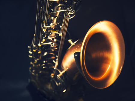 Instrument de musique saxophone Close up musique jazz classique Banque d'images