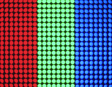 Digital dot colourful Pattern on screen Technology Abstract background