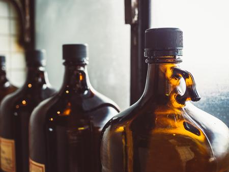 Glass bottle Old Pharmacy medical vintage style object