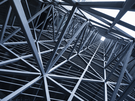 Steel Construction Metal frame pattern Architecture detail background 写真素材 - 108308207