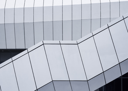 Architecture detail Metal sheet Facade design Modern building