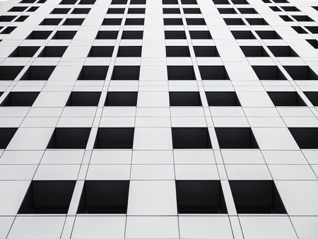 Architecture detail Void window frame Modern Building Facade Stock Photo