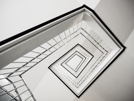 Stair step white staircase Interior modern building Architecture Abstract