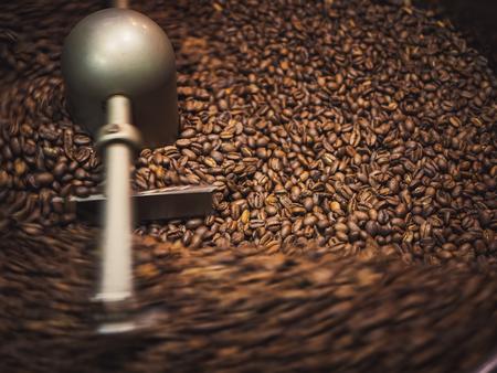 Coffee roaster process Coffee Beans Roasting machine Stock Photo