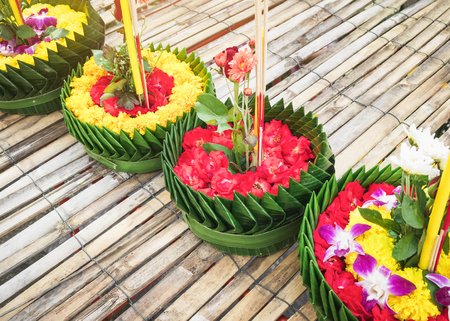 Loy Krathong Thailand Festival Flower Craft decoration Asia culture