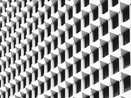 Architecture details wall pattern geometric abstract background 版權商用圖片