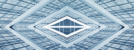 Abstract Architecture Modern Building mirror reflection futuristic Background