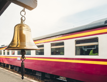 Bell sign at Railway station Local Train Transportation Travel Thailand