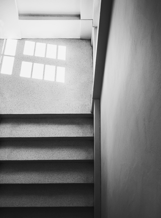 Staircase indoor building with Lighting from window Architecture Abstract Reklamní fotografie