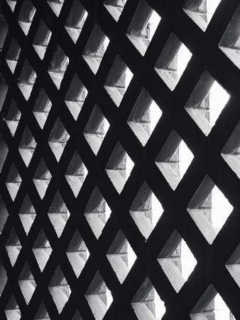 Cement panel ceiling pattern Lighting void Architecture details Reklamní fotografie - 113830998