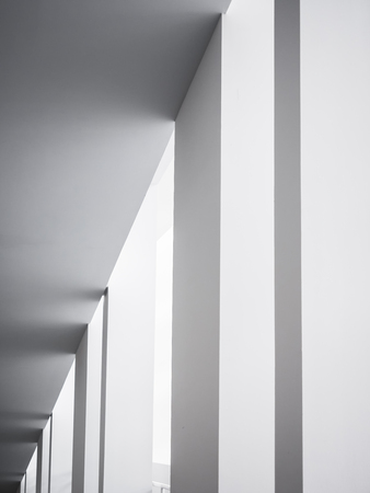 Architecture details White columns Modern building geometric Abstract background