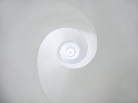 Architecture abstract background White curve Spiral circular Art background