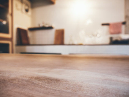 Table top wooden counter Blur kitchen Pantry Home Interior