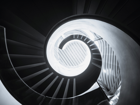 Spiral staircase Modern Architecture detail Art Abstract Background 스톡 콘텐츠