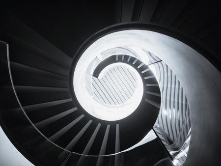 Spiral staircase Modern Architecture detail Art Abstract Background Reklamní fotografie