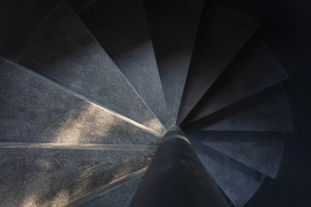 Spiral staircase Cement texture Architecture detail Imagens