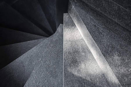Spiral staircase Cement texture Architecture detail Black and White