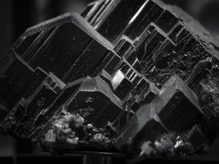 Black Mineral Quartz texture Nature abstract background