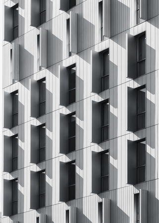 Architecture detail window frame pattern Modern building exterior shade and shadow Reklamní fotografie
