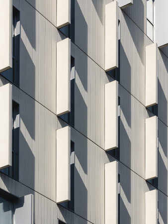 Architecture detail Facade pattern Modern building exterior shade and shadow