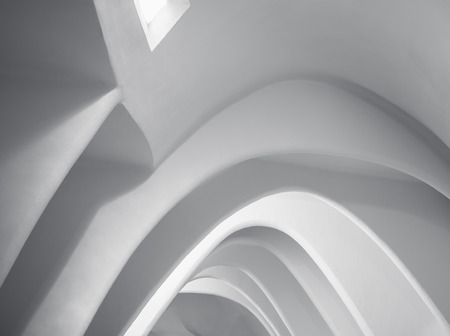 Architecture details White wall Concrete Curve Space lighting Abstract background Archivio Fotografico - 119063635