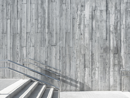 Architecture detail Concrete wall with stair step outdoor Imagens