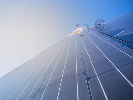 Solar Panel clean Energy Industrial utility system Banque d'images - 119063755