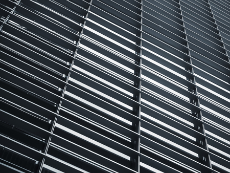 Steel pattern Architecture detail Facade design Abstract Background Imagens