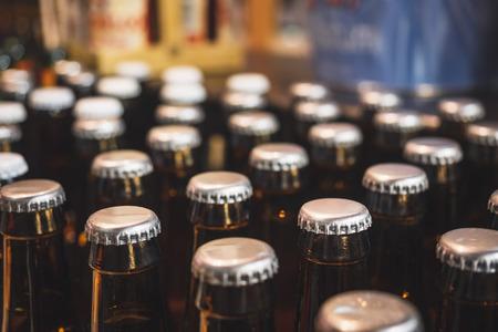 Flaschenverschluss Bier Brauereipaket Trinkbar Lager Lagerung Logistik