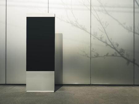 Mock-up-Schildständer Moderner Gebäudehintergrund im Freien